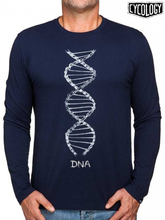 Cycology longsleeve shirt: DNA (navy)