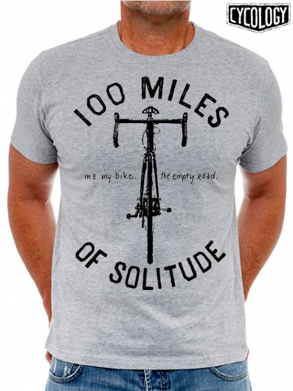 Cycology t shirt 100 miles grijs t shirts for Miles t shirt shop